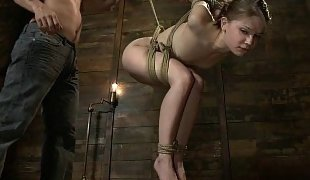 Very flexible Sensi Pearl in bondage