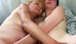 Nice Old granny teaches Nice girl masturbate
