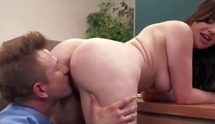 Office slut Sovereign Syre says Welcome to new guy Bill