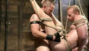 hardcore anal fucking with tied submissive gay sexslave