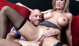 Johnny Sins buries his hard meat
