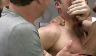 hunk gang banged in the restroom
