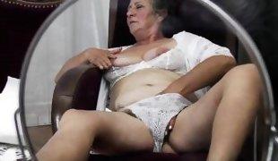 naughty grandma jana is masturbating