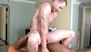 Explicit anal fucking for dude during massage