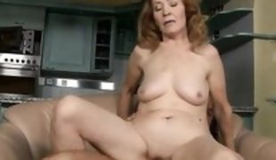 lustful blonde mature lady riding a cock @ spermbanks #13