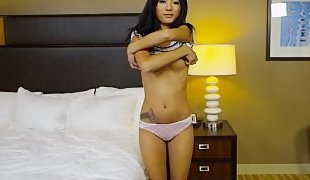 Petite Asian teen doing porn